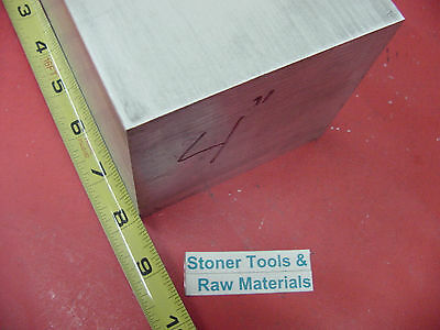"2 pieces 4"" X 4"" ALUMINUM 6061 SQUARE SOLID BAR 8"" long T651 Flat New Mill Stock"