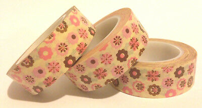 Washi Tape Floral Confetti 15Mm Wide X 10Mtr Planner Scrap Craft Wrap Mail Art