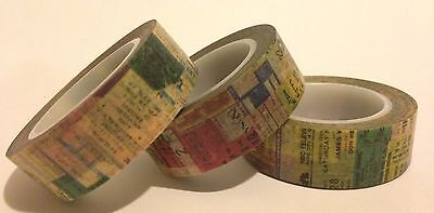Washi Tape Collage 15Mm Wide X 10Mtr Roll Scrap Planner Craft Wrap