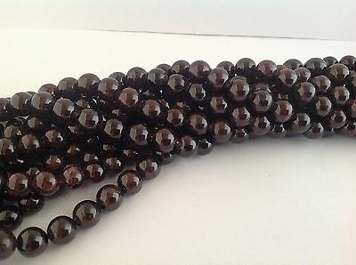 Garnet gemstone round beads - FULL STRANDS