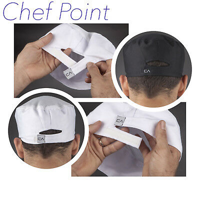 3 Pack Of Workcool Ventilated Chef Hat / Skull Cap, Poly-Cotton, White Or Black!