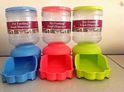Pet Dog Cat Puppy Feeder Food Dispenser Food Dish Bowl Feeder