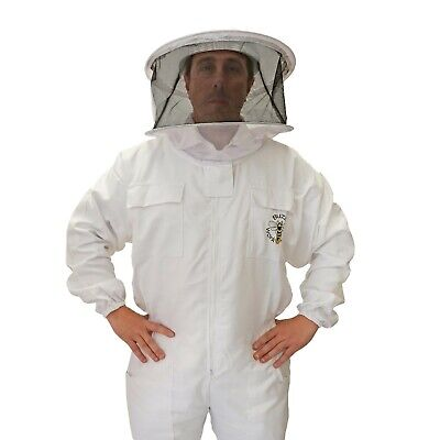 BUZZ Beekeeping bee suit - LARGE with round hat and twin hoop veil