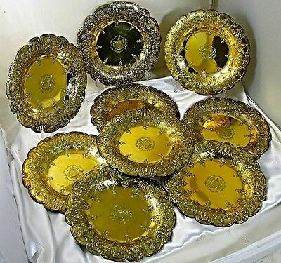 Important Set Of Garrard Gilt Sterling Silver Plates: The First Jewish  Baronet