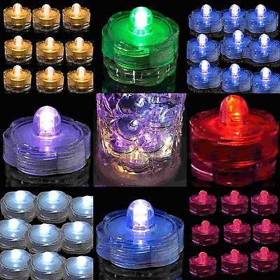 48 SUPER Bright LED Floral Tea Light Submersible Battery Floralyte Party Wedding