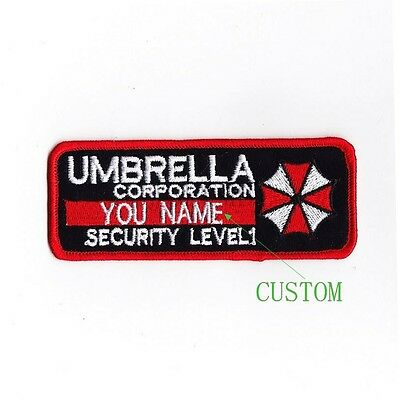 Custom name tapes Resident Evil Umbrella Corporation Badges Velcro Patch B1989