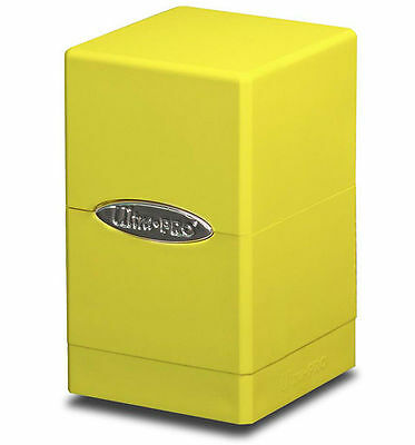 Ultra Pro Bright Yellow Tower Deck Box Card Storage MTG Yugioh Pokemon Sports +