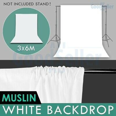 Photography 3x6m White Screen Backdrop Muslin Background for Studio Lighting AU