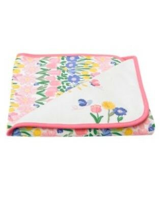 Gymboree All Ruffled Up Sunny Day N Flowers Reversible Blanket 1-Size Nwt