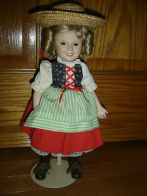 Danbury Mint Shirley Temple  quot Wee Willie Winkie quot  Porcelain Doll 16 quot Shirley Temple Heidi Doll