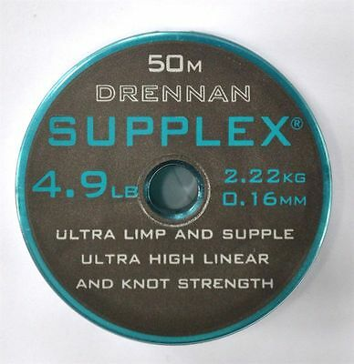 Drennan Supplex Hooklength Low Diameter fishing Line 50m