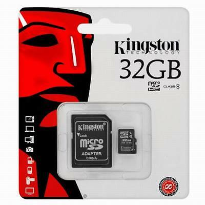 Kingston 32GB Micro SD SDHC TF Karte Speicherkarte SDC4/32GB PHONE TABLET KAMERA