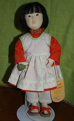 Vintage Effanbee Chinese Doll Orange Blossom by Joyce Stafford with stand