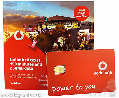 Vodafone Nano SIM Card Pay As You Go For iPhone 5 5s and iPhone 6 PAYG