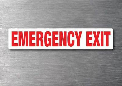 Emergency Exit Red sticker 7 year water & fade vinyl proof mini bus coach