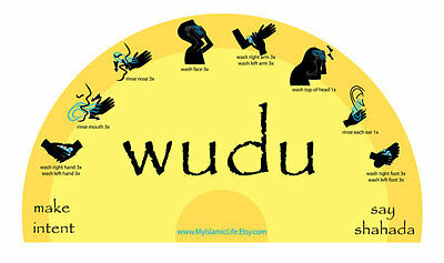 The Wudu Cling - Gentle Reminders to Perfect your Wudu  ON SALE NOW!!!