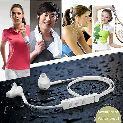 Waterproof Bluetooth V4.0 Stereo +A2DP Headphone w/ MIC for iPhone 6 5s 5c 5 4s