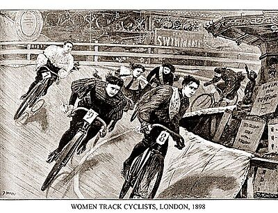 Women Track Cyclists, 1898 Presse E Sports Bicycle Bike Print Poster 30x23