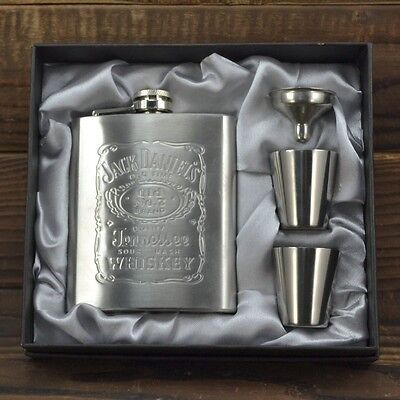 7oz Stainless Steel Pocket Hip Flask Set Liquor Drink Great For Wedding Party