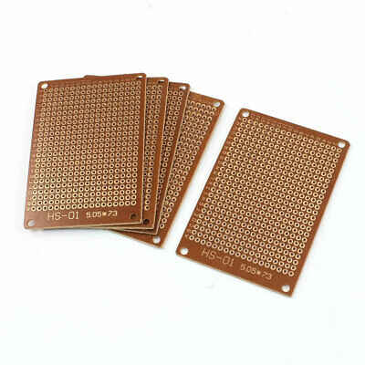 5Pcs Brown 2.54mm Pitch PCB Prototype Veroboard Stripboard 50mmx70mm