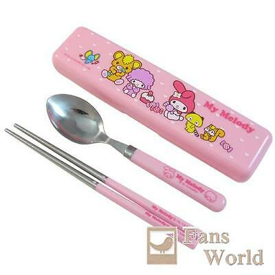 My Melody Tableware Spoon and Chopsticks Set in Case Sanrio