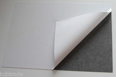 SELF ADHESIVE MAGNETIC FLEXIBLE SHEET - 0.5mm THICK - VARIOUS SIZES - DIY #5