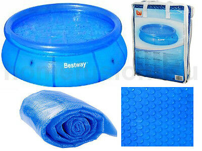 10' Foot Round Solar Swimming Pool Cover Easy Paddling Pool Debris Bubble Sheet