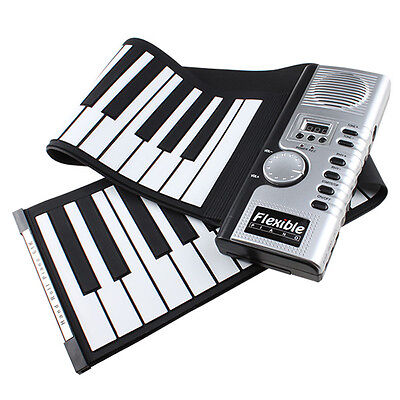 61 Keys Flexible Foldable Soft Portable Electric Digital Roll up Keyboard Piano