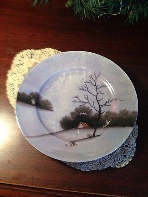 """Beautiful Hand Painted Plate Made in Japan -7 1/4"""""""
