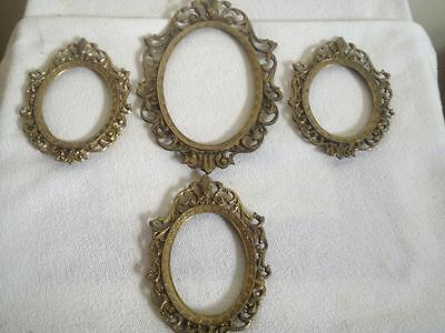 Lot of 4 Brass Frames Photos- Scenery-Articles- Outlet Covers Made in Italy Free