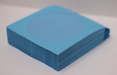 200 Premium Blue CD DVD R Disc Paper Sleeve Envelope Clear Window Flap