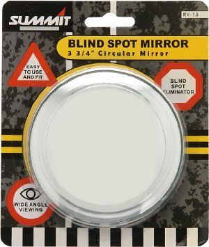 """Rv-15 Large Summit Blind Spot Mirror Round Adhesive Wide Angle 3 3/4"""" Rv15"""