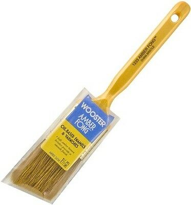 "Wooster 1.5"" Angle Amber Fong Paint Brush Natural China Bristle Oil Paint Stain"