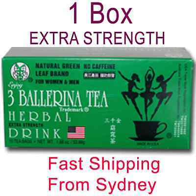 Ballerina Tea Herbal Drink Slim Tea Extra Strength X 1 Box 18 Bags Slimming Tea