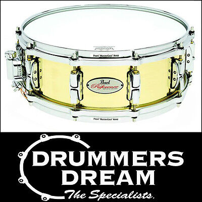 "Pearl Reference Brass Snare Drum - 14""x 5"" MasterCast Hoops *Brand New*"