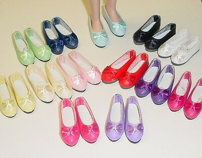 Doll Shoes 44mm LIGHT PINK Ellowyne, Patience & NuMood Flats,