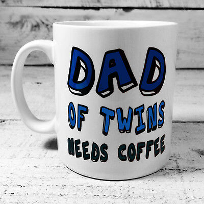 New Dad Of Twins Needs Coffee Gift Mug Cup Present Daddy Fathers Day Gifts Ideas