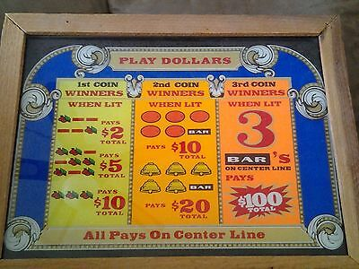 Vintage 70's Slot Glass Lighted Sign