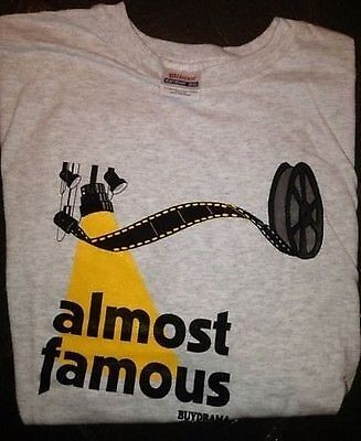 """THEATRE T-SHIRT """"Almost Famous"""" Thespians Musicals XL and 2XL"""
