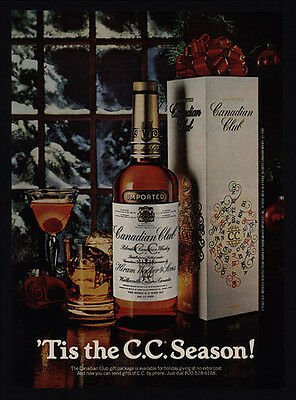 1980 CANADIAN Club Whisky - 'Tis the C.C. Season Christmas VINTAGE ADVERTISEMENT