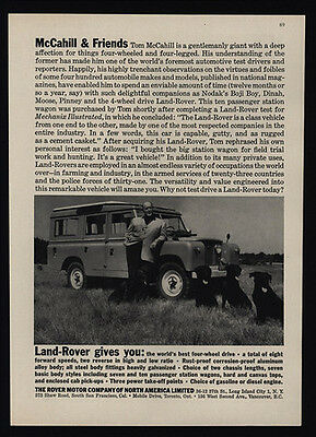 1959 LAND ROVER 4 Wheel Drive - 4X4 - TOM McCAHILL & Friends - Dogs - VINTAGE AD