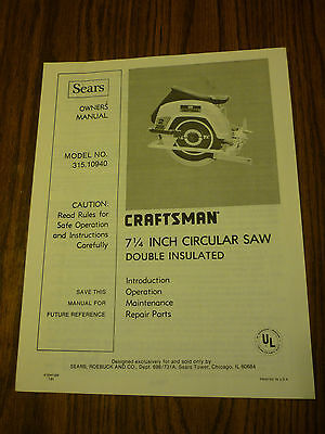 sears craftsman 16 scroll saw manual
