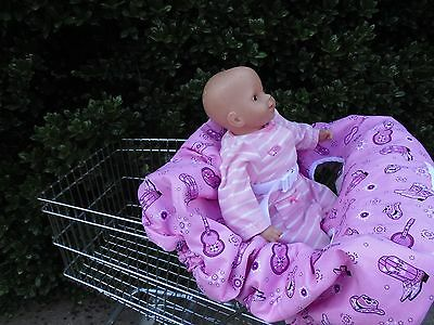 Pink Bandana shopping cart cover/high cover-handmade