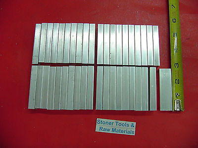 "40 Pieces 1/4"" X 3/4"" ALUMINUM 6061 FLAT BAR 2.5"" long Solid Mill Stock"