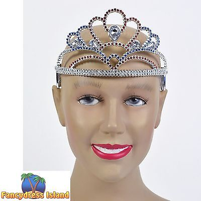MULTI COLOUR PLASTIC FAIRYTALE TIARA - womens ladies fancy dress accessory