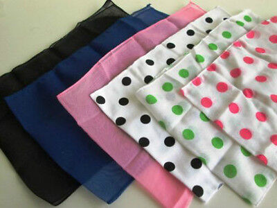 1950S 50's Poodle Scarf Black Pink Red White Blue Polka Dot 50's Costume Scarf