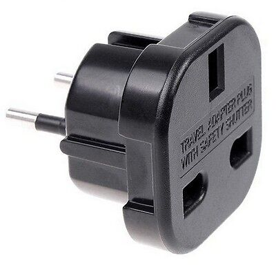 Adaptador Red Enchufe Uk Ingles Reino Unido A Europeo Ue Universal