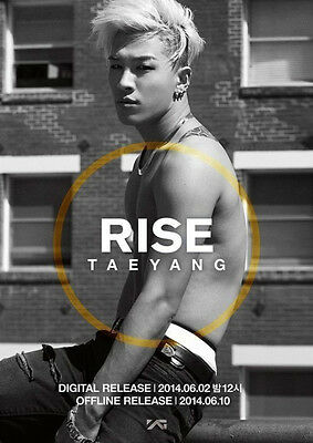 TAEYANG 2nd Album RISE Vol.2::CD+Sticker Limited+Poster Limited,GiftPhoto,New,YG