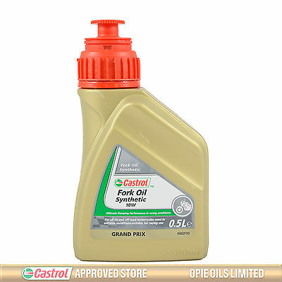 Castrol Fully Synthetic Fork Oil 10W Suspension Fluid 500ml 0.5L