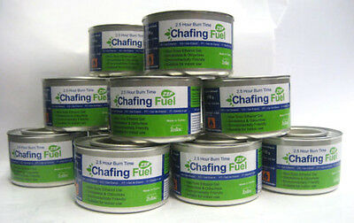 PACK OF 24 CHAFING DISH FUEL GEL CANS is Approx.  2.5 HOUR BURNING TIME EACH